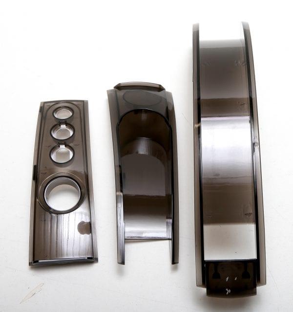 Накладки на корпус моноколеса GotWay Nikola (верхние, комплект - 3 части) black