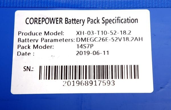 Аккумулятор электросамоката Starway 10,   Zero 10 , 52V18.2Ah