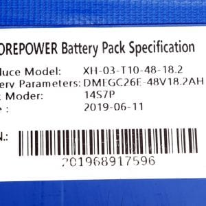 Аккумулятор электросамоката Starway 10,   Zero 10 , 48V18.2Ah
