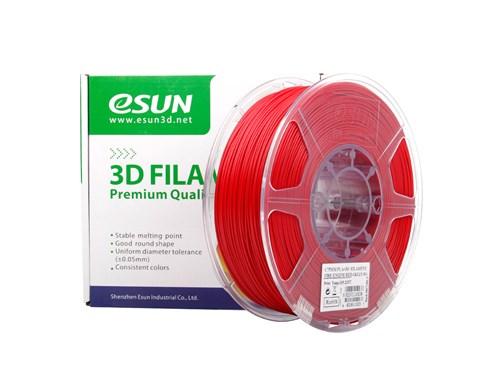 PLA+ пластик eSun, 1.75 мм, fire engine red, 1 кг