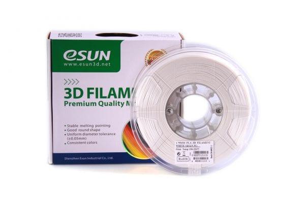 PLA+ пластик eSun, 1.75 мм, cold white, 1 кг