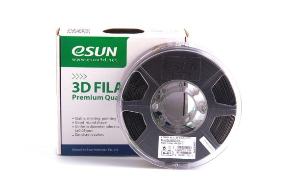 PLA+ пластик eSun, 1.75 мм, black, 1 кг