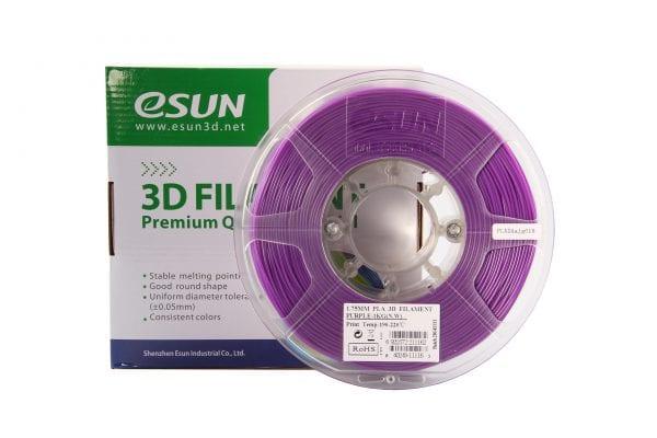 PLA+ пластик eSun, 1.75 мм, purple, 1 кг
