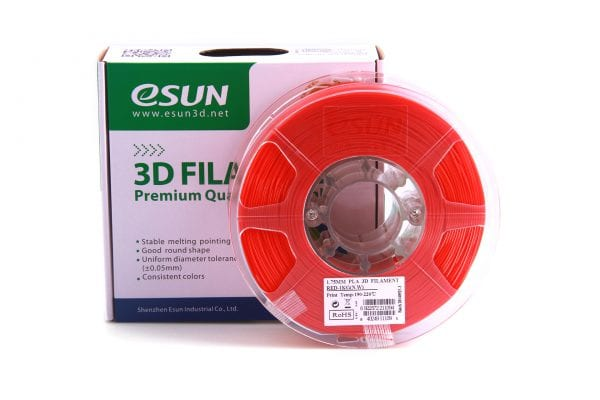 PLA+ пластик eSun, 1.75 мм, red, 1 кг