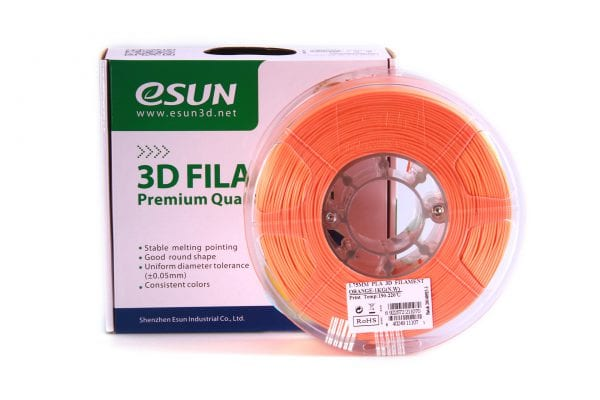 PLA+ пластик eSun, 1.75 мм, orange, 1 кг