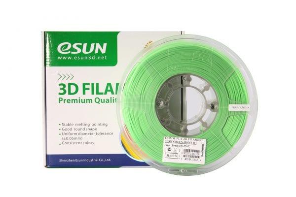 PLA+ пластик eSun, 1.75 мм, peak green, 1 кг