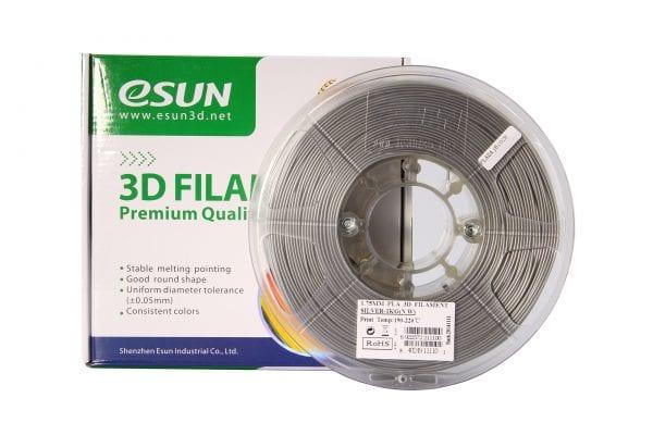 PLA+ пластик eSun, 1.75 мм, silver, 1 кг