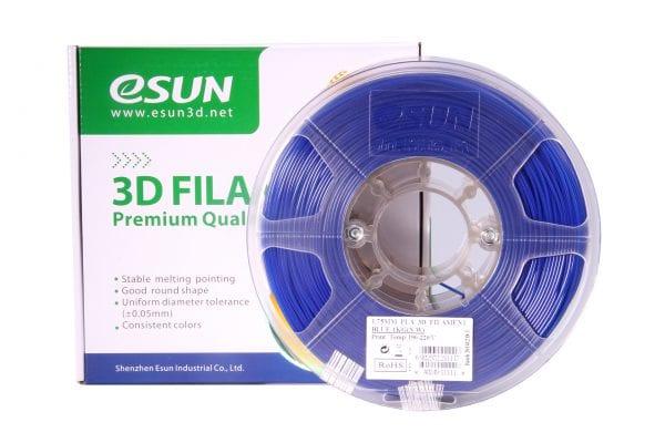 PLA+ пластик eSun, 1.75 мм, blue, 1 кг