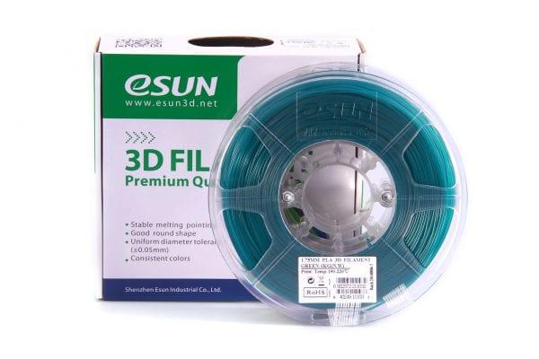 PLA+ пластик eSun, 1.75 мм, green, 1 кг