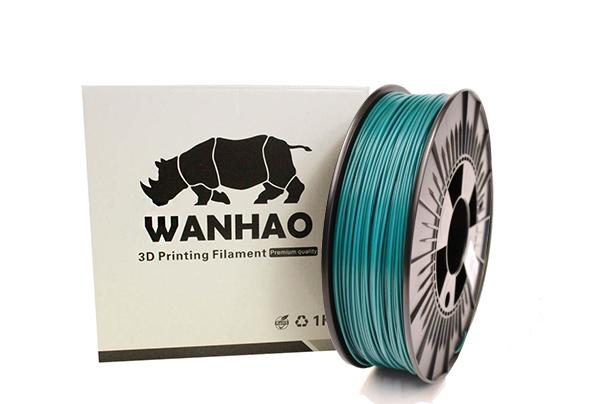 PLA пластик Wanhao, 1.75 мм, dark green, 1 кг