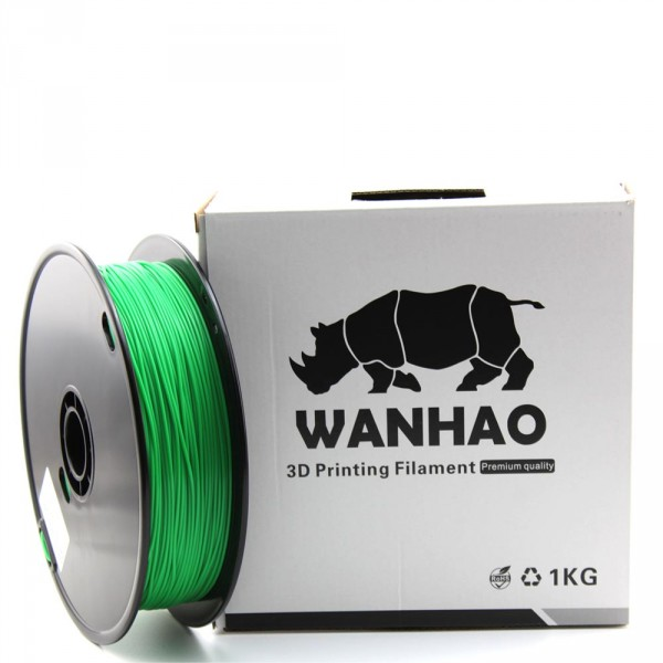 PLA пластик Wanhao, 1.75 мм, green, 1 кг