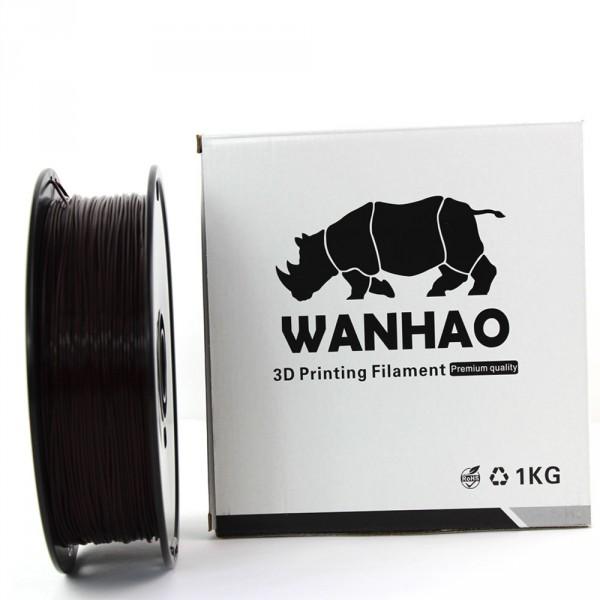 PLA пластик Wanhao, 1.75 мм, brown, 1 кг