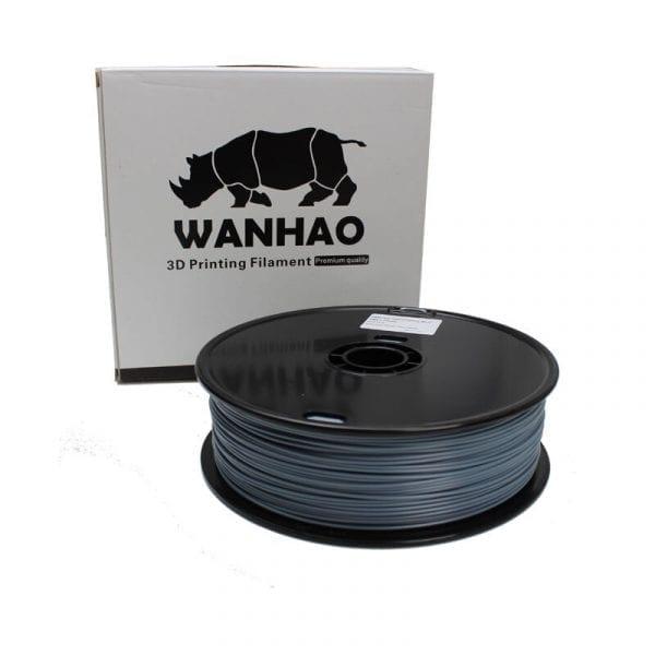 PLA пластик Wanhao, 1.75 мм, translucent grey, 1 кг
