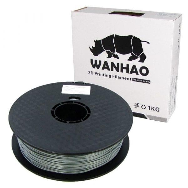 PLA пластик Wanhao, 1.75 мм, silver, 1 кг