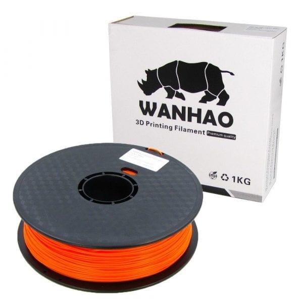 PLA пластик Wanhao, 1.75 мм, translucent orange, 1 кг