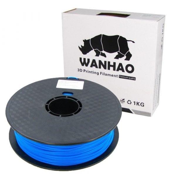 PLA пластик Wanhao, 1.75 мм,dark blue, 1 кг