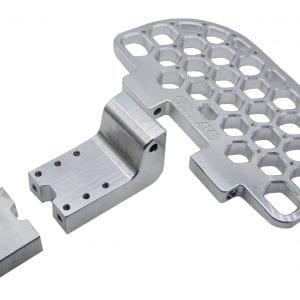 Металлические педали Hextech + стойки Для Kingsong 18 L/XL/XXL серебристые