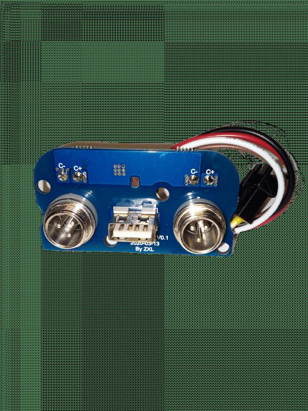 Разъём зарядки моноколеса в сборе с USB (плата) Inmotion V11