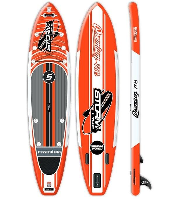 Надувная доска для sup-бординга Stormline Premium 11.6 оранжевая