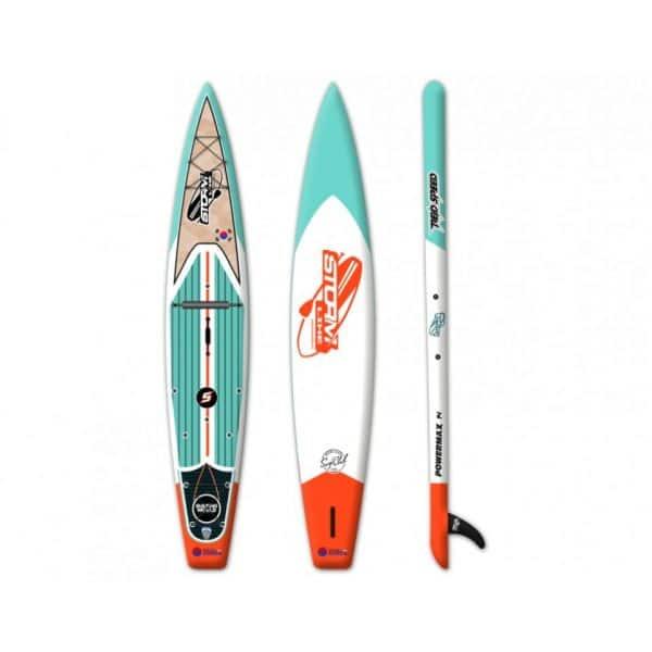 Надувная доска для sup-бординга Stormline Powermax 14 спортивная оранжевая