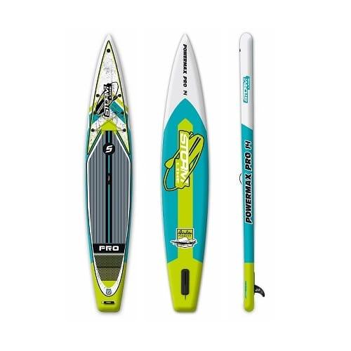 Надувная доска для sup-бординга Stormline Powermax PRO 14 спортивная зеленая